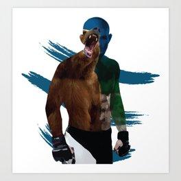 Khabib The Eagle Nurmagomedov - UFC MMA Beast Art Print