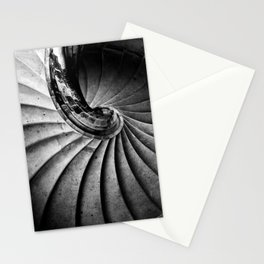 Sand stone spiral staircase Stationery Cards