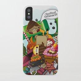 Chestnut Katamari iPhone Case