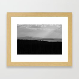 Lake Yellowstone Framed Art Print