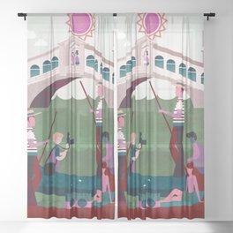 Venice Italy 4 Sheer Curtain