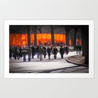 Christo Gates in Central Park Art Print