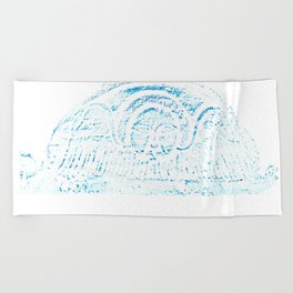 Blue Headstone Beach Towel
