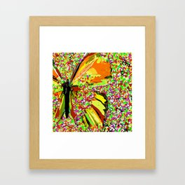 Butterfly Autumn So Pretty ORANGE AND GOLD Framed Art Print