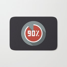 "Illustration ""percentage - 90%"" with long shadow in new modern flat design Bath Mat"