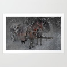 Those wild winter days Art Print