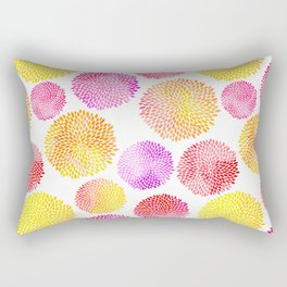 Yellow Red Purple Fireworks Rectangular Pillow