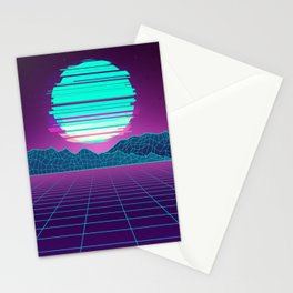 The Future World Synthwave  Stationery Cards