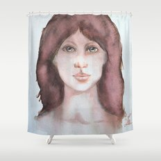 Watercolor smile Shower Curtain