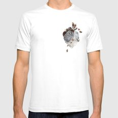 The Heart White SMALL Mens Fitted Tee