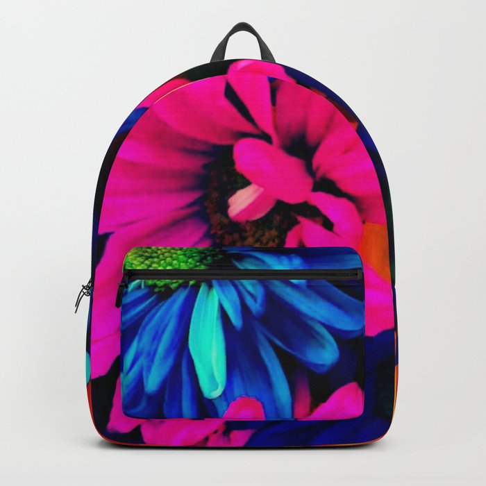 3220573b6b7c Neon Daisies Backpack by tylerchanelphotography