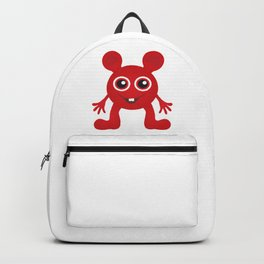 Red Smiley Man Backpack