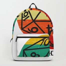 D20 This is How I roll retro dice Backpack