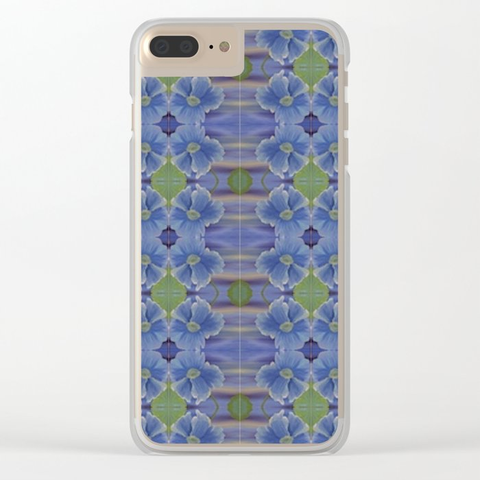 Nasturtium Flower Pattern Clear iPhone Case