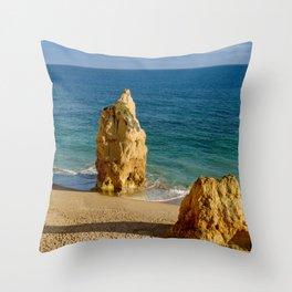 Praia da Rocha rocks Throw Pillow