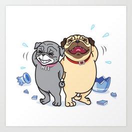MOOTOO Happy Pug Art Print