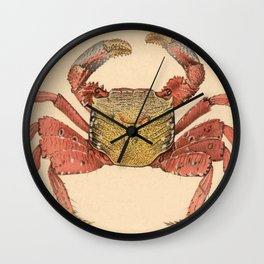 Vintage Mangrove Root Crab Illustration (1902) Wall Clock