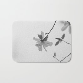 In the Moment - Magnolia in black and white Bath Mat
