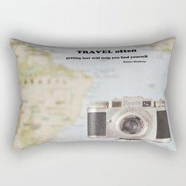 Travel often Rectangular Pillow