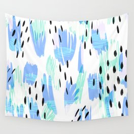 Addie - bold abstract - bright blue Wall Tapestry