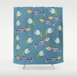 Bizarre Fishes Shower Curtain