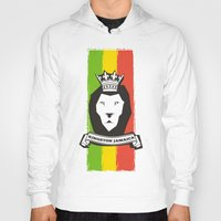 rasta Hoodies featuring Rasta Lion by Awesome