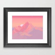 Peach Haze Framed Art Print