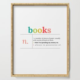 Definition of Books   in Color Serving Tray