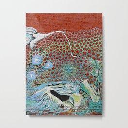 Peacock Circles Metal Print