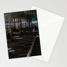 Zuccotti park at night, night city, downtown, Manhattan, New York (2020-5-GNY161) Stationery Cards