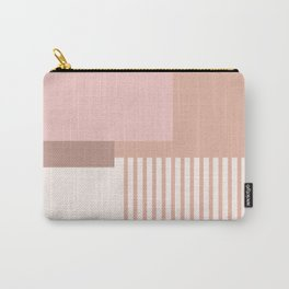 Sol Abstract Geometric Print in Pink Carry-All Pouch