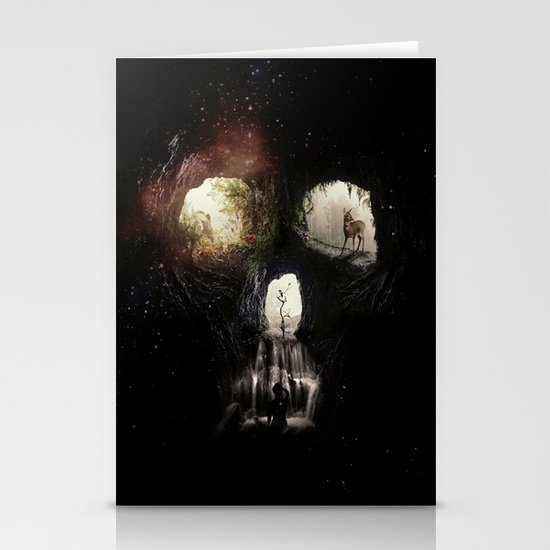 Cave Skull Stationery Cards