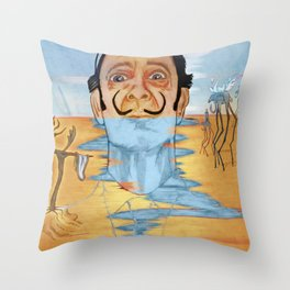 The Persistence of Dali Throw Pillow