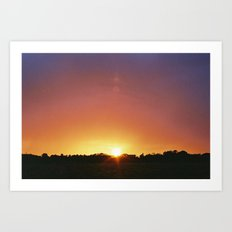 Norfolk Sunset Art Print