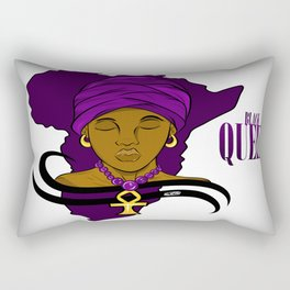 Black Queen Africa Background Rectangular Pillow