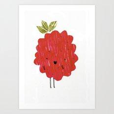 Eat Your Fruit! // Raspberry Art Print