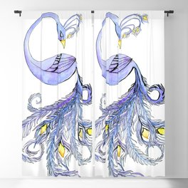 Mayura Yoga Peacock Blackout Curtain