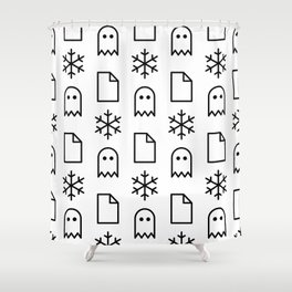 Paper, Snow, A Ghost. Shower Curtain