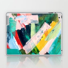Livin' Easy - a bright abstract piece in blues, greens, yellow and red Laptop & iPad Skin