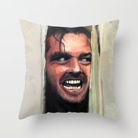 fear Throw Pillows featuring Fear. by Emiliano Morciano (Ateyo)