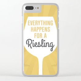 Wine Humor Riesling Clear iPhone Case