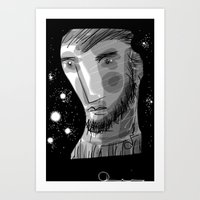 man with beard Art Print