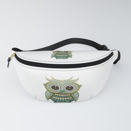 Star Eye Owl - Green Fanny Pack