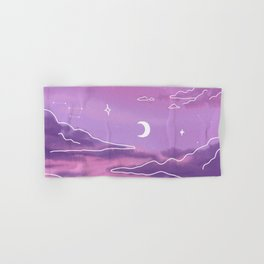 Purple Sunset View Hand & Bath Towel