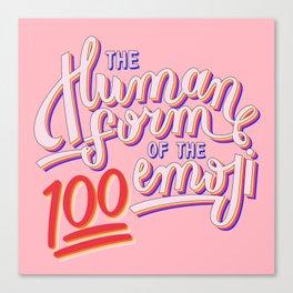 100 Emoji Canvas Print