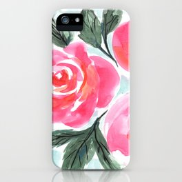 Farmhouse and Shabby Chic Rose Bouquet Chintz Rose Florals American Country English iPhone Case