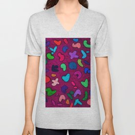 Seamless Colorful Geometric Pattern XXXII Unisex V-Neck
