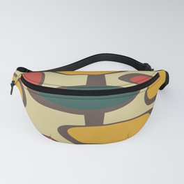 Mid Century Modern Baubles (gold) Fanny Pack