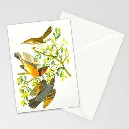 Mountain Mocking bird and Varied Thrush Stationery Cards