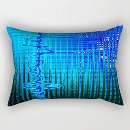 Soundwave Blue Rectangular Pillow